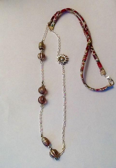 Sautoir Liberty et perles rosées : Collier par nya-bijoux26