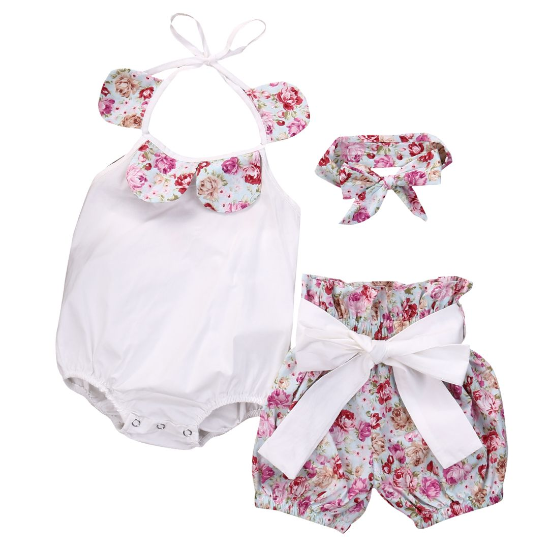 683590afb0cb Click to Buy    3PCS Cute Newborn Infant Toddler Baby Girl Floral ...