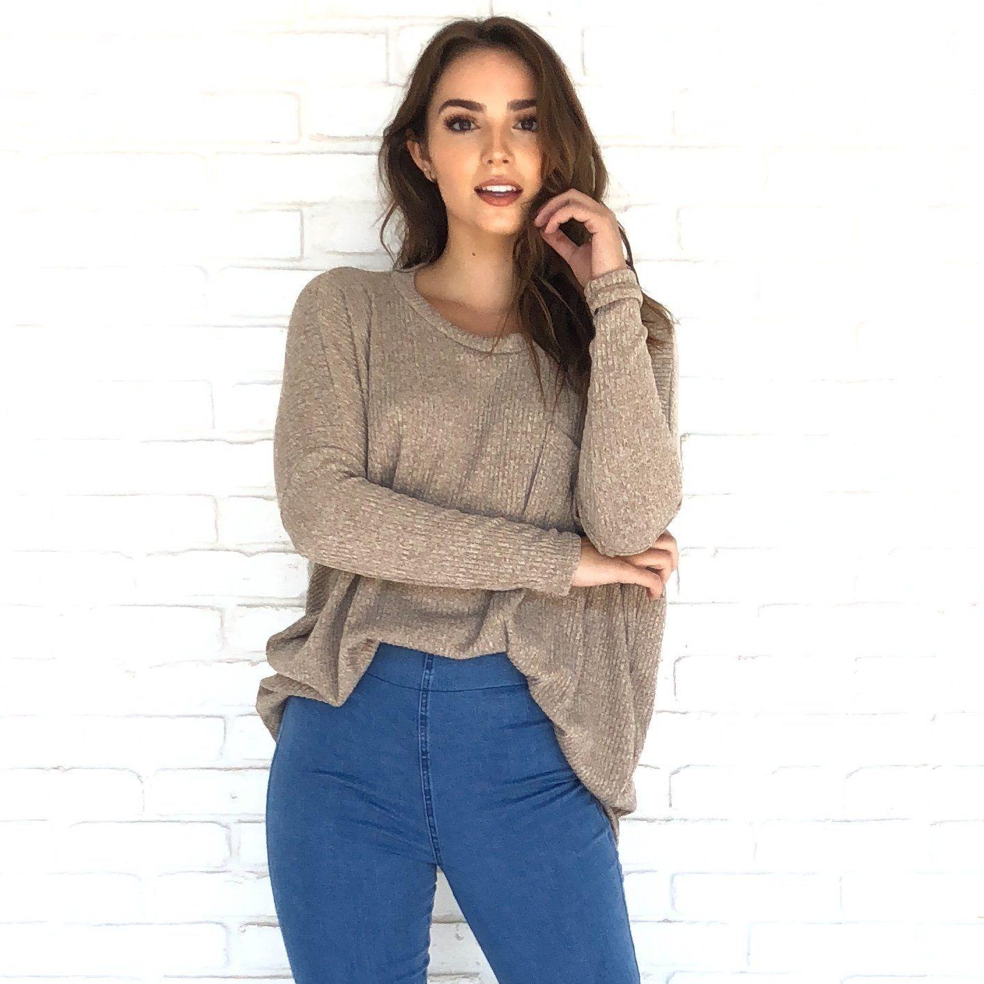 9bfa9a30f0 Karat Pocket Knit Sweater Top - Dainty Hooligan Boutique