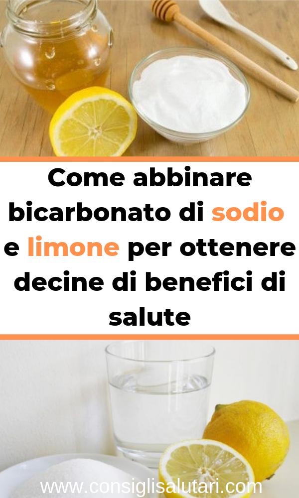 effetto di limone e bicarbonato di sodio