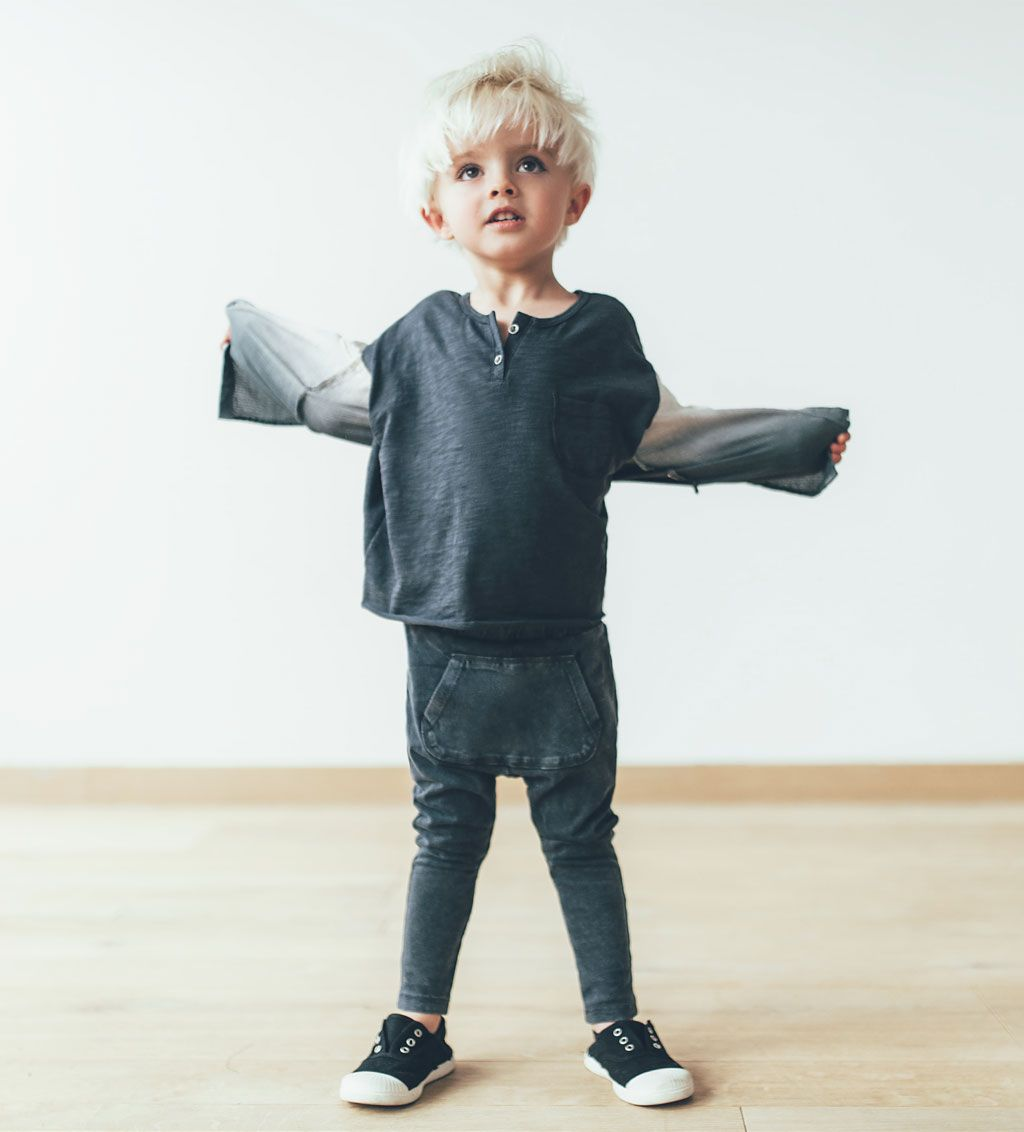 Extra long organic cotton leggings-TROUSERS-BABY BOY | 3 ...