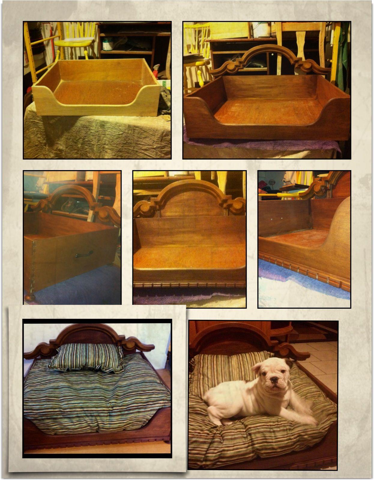 DIY dog bed using old dresser drawer Diy pet bed, Diy