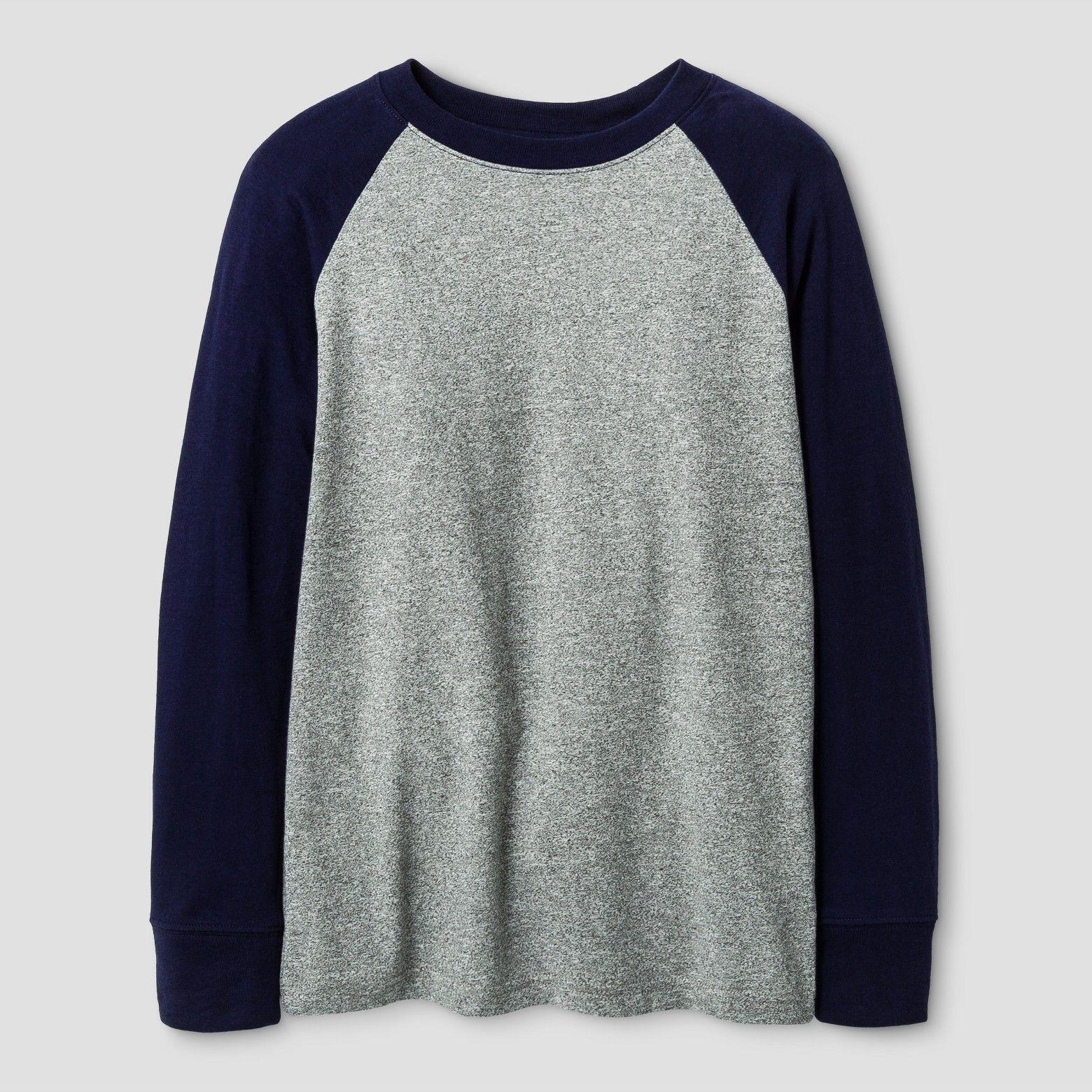 410310f0 Boys' Long Sleeve Baseball T-Shirt - Cat & Jack™ Navy XL : Target ...