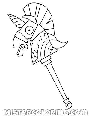 Rainbow Smash Pickaxe Fortnite Coloring Page Coloring Pages For Kids Coloring Pages Coloring Books