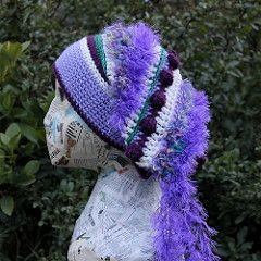 Freeform Crochet Hat - pattern by Sharon Maher of Laughing Purple Goldfish…