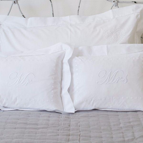 Mr & Mrs pillowcases by SARAHK designs