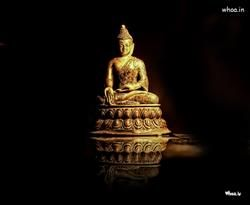 Lord Buddha Art With Dark Background Wallpaper Buddha Art Buddha Dark Background Wallpaper