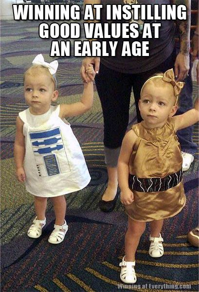My kids will be raised up to be Christians first, of course. But they will be raised on Disney and Star Wars. They will be cool little kids :)