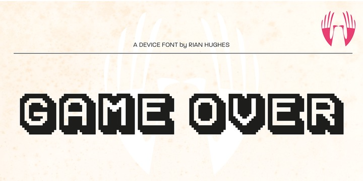 Game Over Webfont Desktop Font Myfonts In 2021 Lettering Fonts Font Names