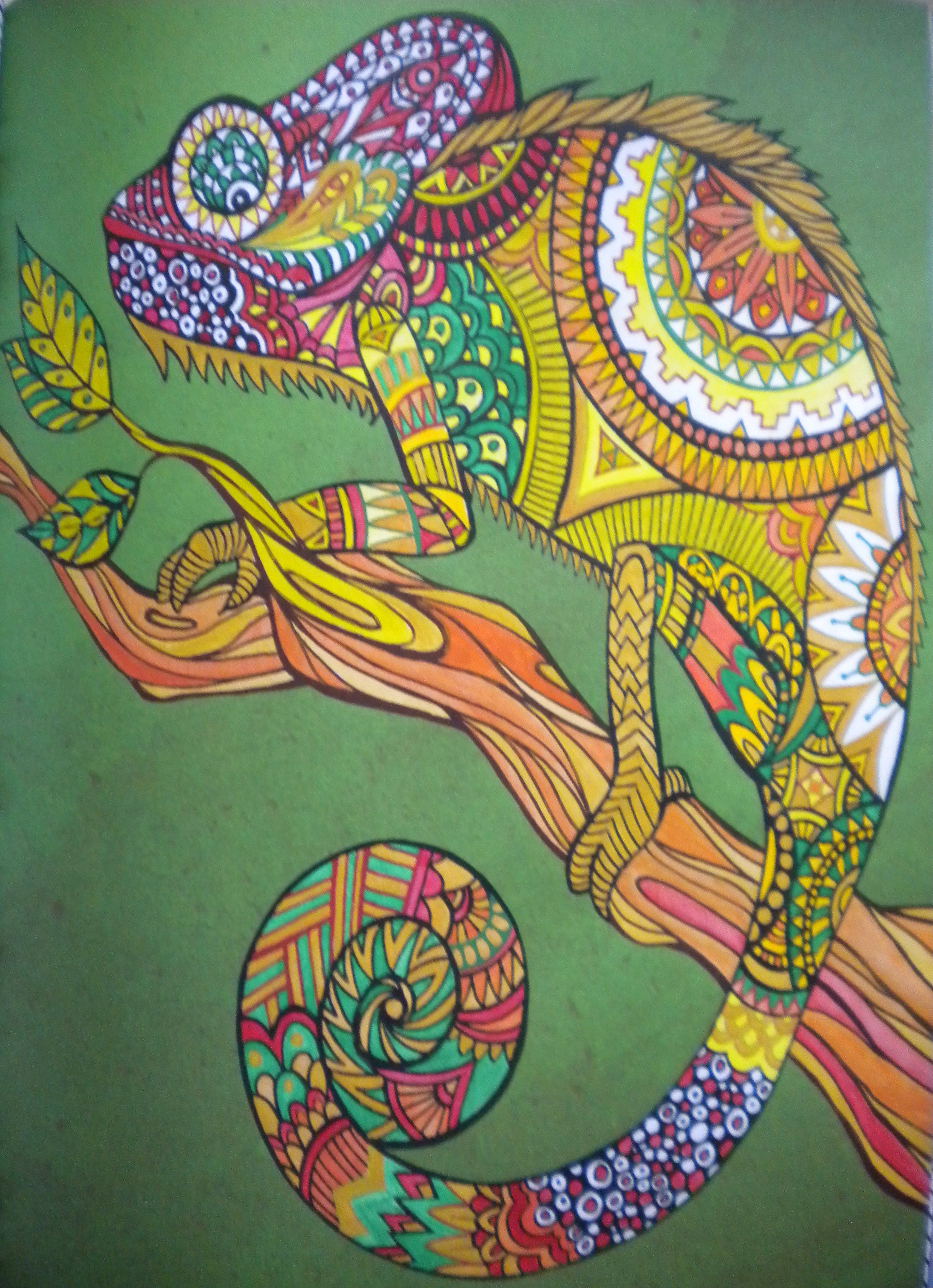 Painted by me from Art Therapy an anti-stress colouring book ...