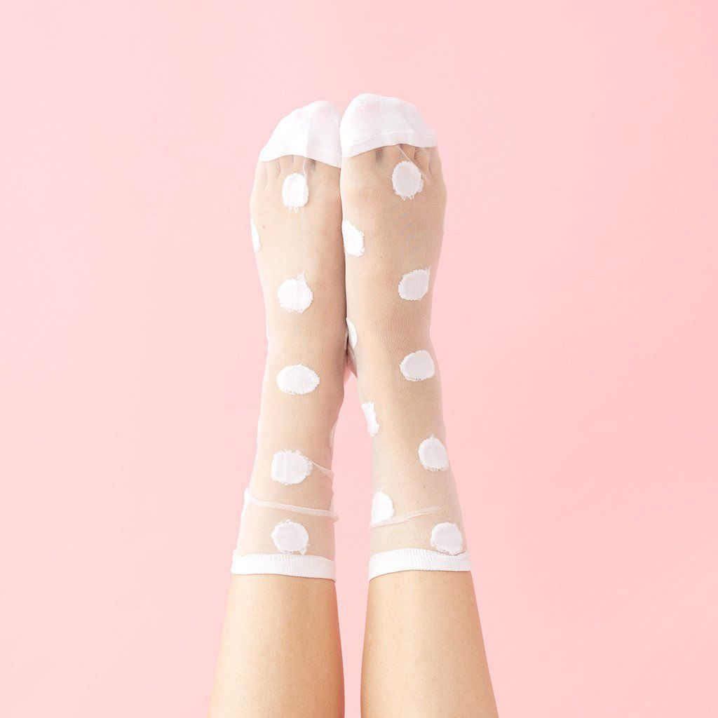"Socks that rock: Sheer socks with sneaks or sandals, add instant oomph to any ensemble (saves for ""sheer socks"" +72%)"