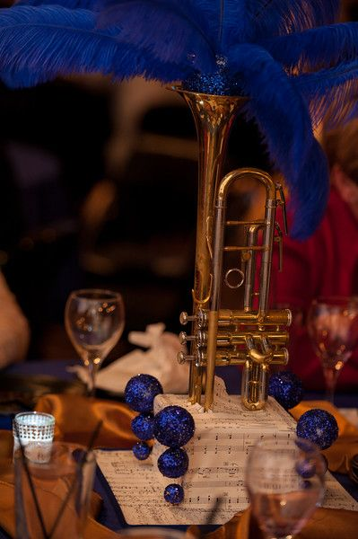 All That Jazz Musical Instrument Centerpieces Sheet Music Bases