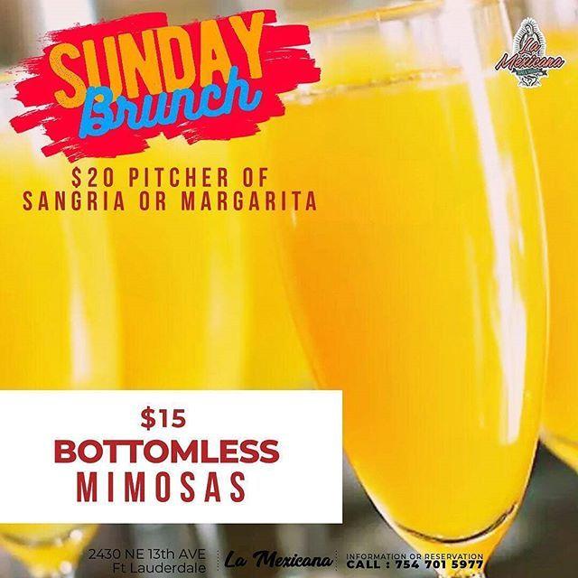 No Brunch Plans?! We've Got You Covered! Enjoy Our Sunday