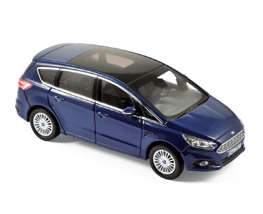 Ford S Max 2015 Blue Metallic Car Models Die Cast Hobbyland Scale Model Car Made Of Metal Die Cast In 1 43 Scale Manufactured Car Model Diecast Ford