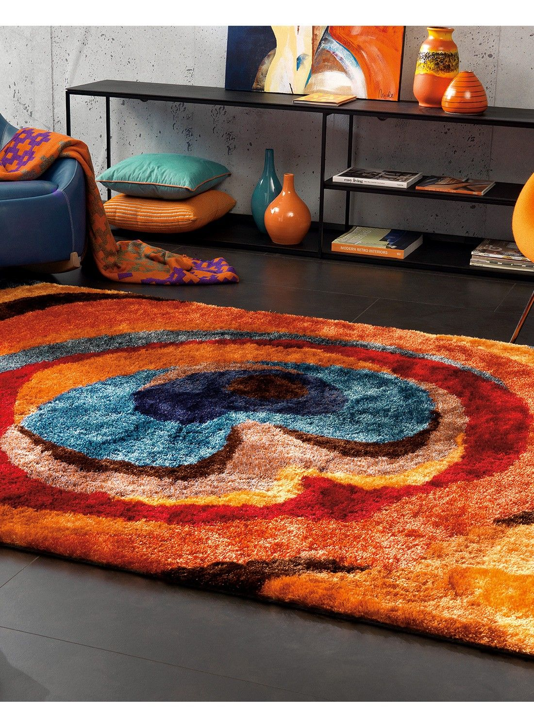 Tapis Shaggy Orange Tapis Lounge Shaggy Funky 4 Multicolore Tapis Shaggy Funky