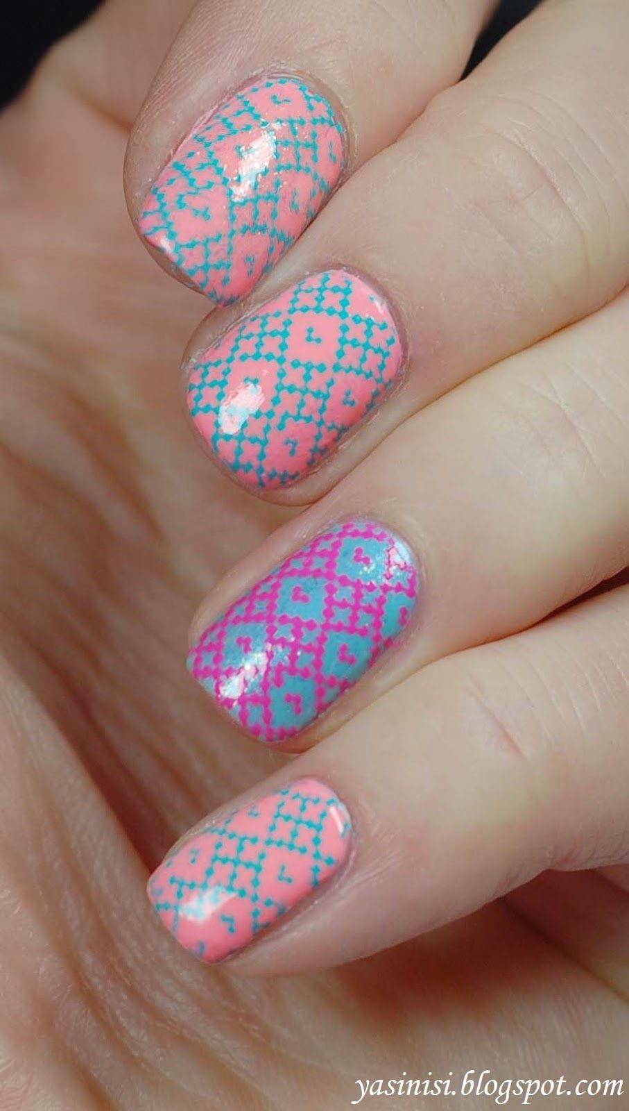 UberChic Beauty Stamping plates - set 1 - REVIEW / RECENZJA Wpw! Perfect spring colored nails! Perfect nail stamps from Uber Chic Beauty Stamps! These are amazing for spring, prom, summer nails! Love nail art! So simple to do and they look great! Salon style at home! Can't wait to do this!