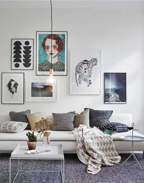 Scandi Living Room Art