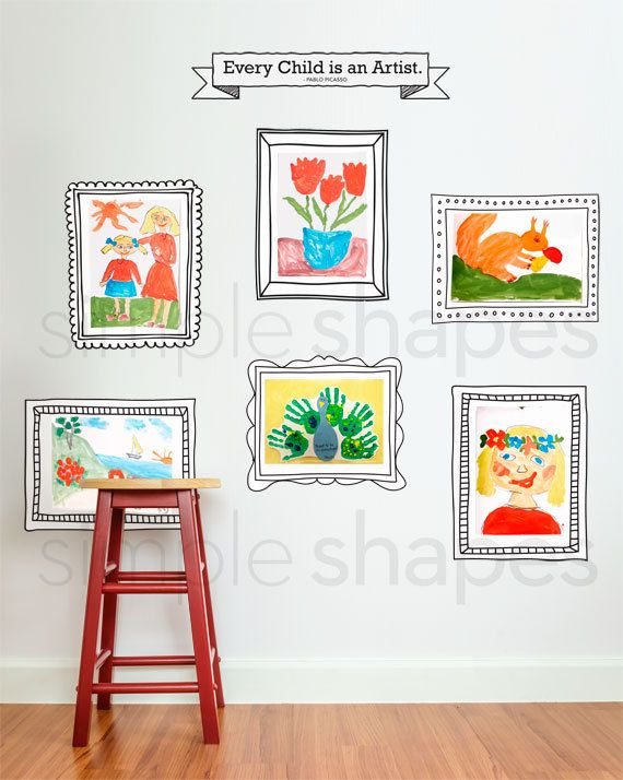 show off your childs artwork using our wall sticker frames. if you