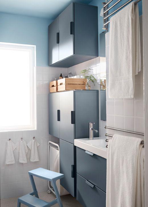 Du Brauchst Maximale Aufbewahrung In Einem Kleinen Bad? Hier Unser Erster  Tipp: Wandschränke.