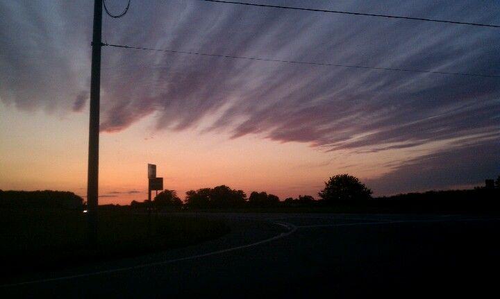 Sunset decatur, Ohio 6/29/12