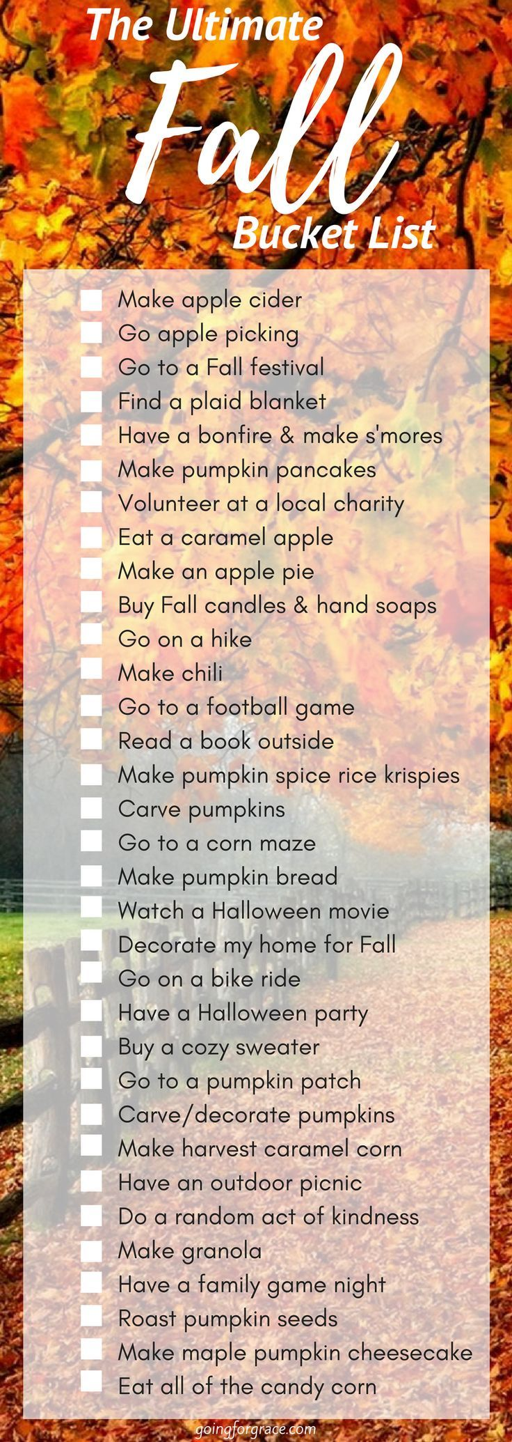Ultimate fall bucket list ❤️ #fallseason