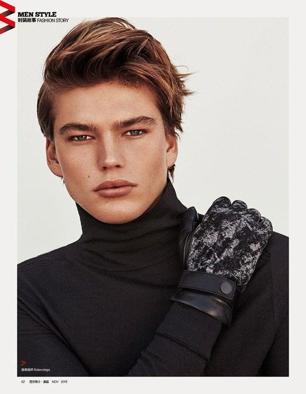 9892ee6a Jordan Barrett for Harper's Bazaar China by Shxpir | Male Editorial ...