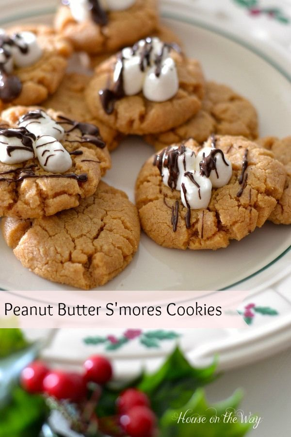 Peanut Butter S'mores Cookie Recipe -Via House on the Way christmas Cookie recipes