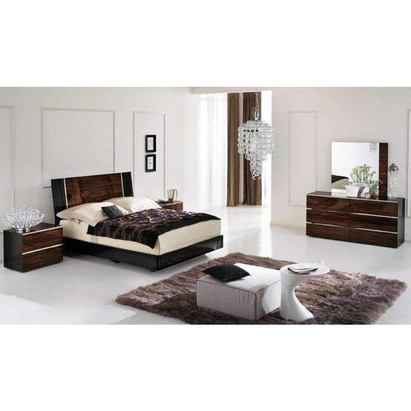 ALF Venere Italian Modern Ebony Queen Bedroom Set Products