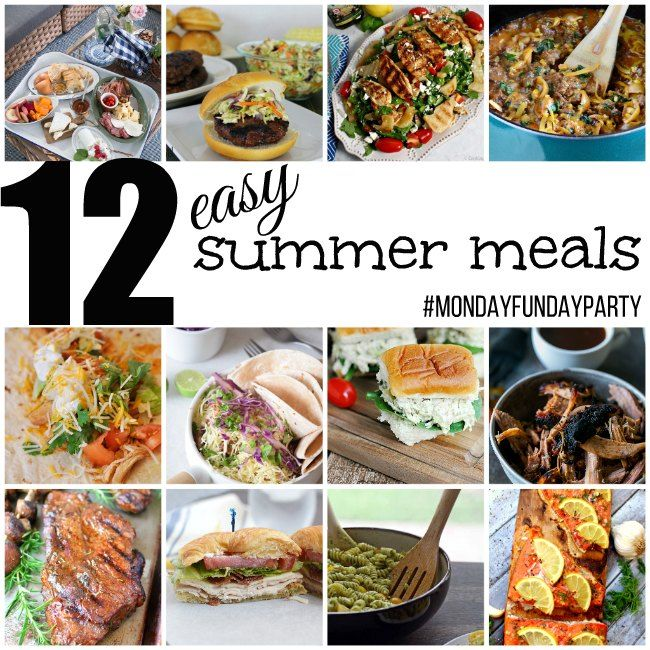 Easy Summer Lunch Ideas Easy summer meals mondayfundayparty amazing recipes pinterest easy summer meals mondayfundayparty sisterspd