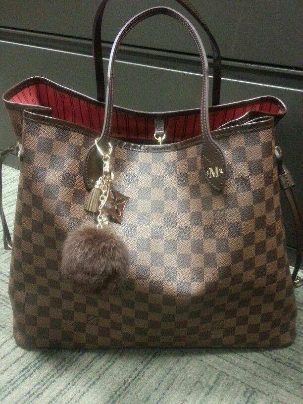 64525d3b5 Added a cute mink fur purse charm to my Neverful Louis! .....cute huh !