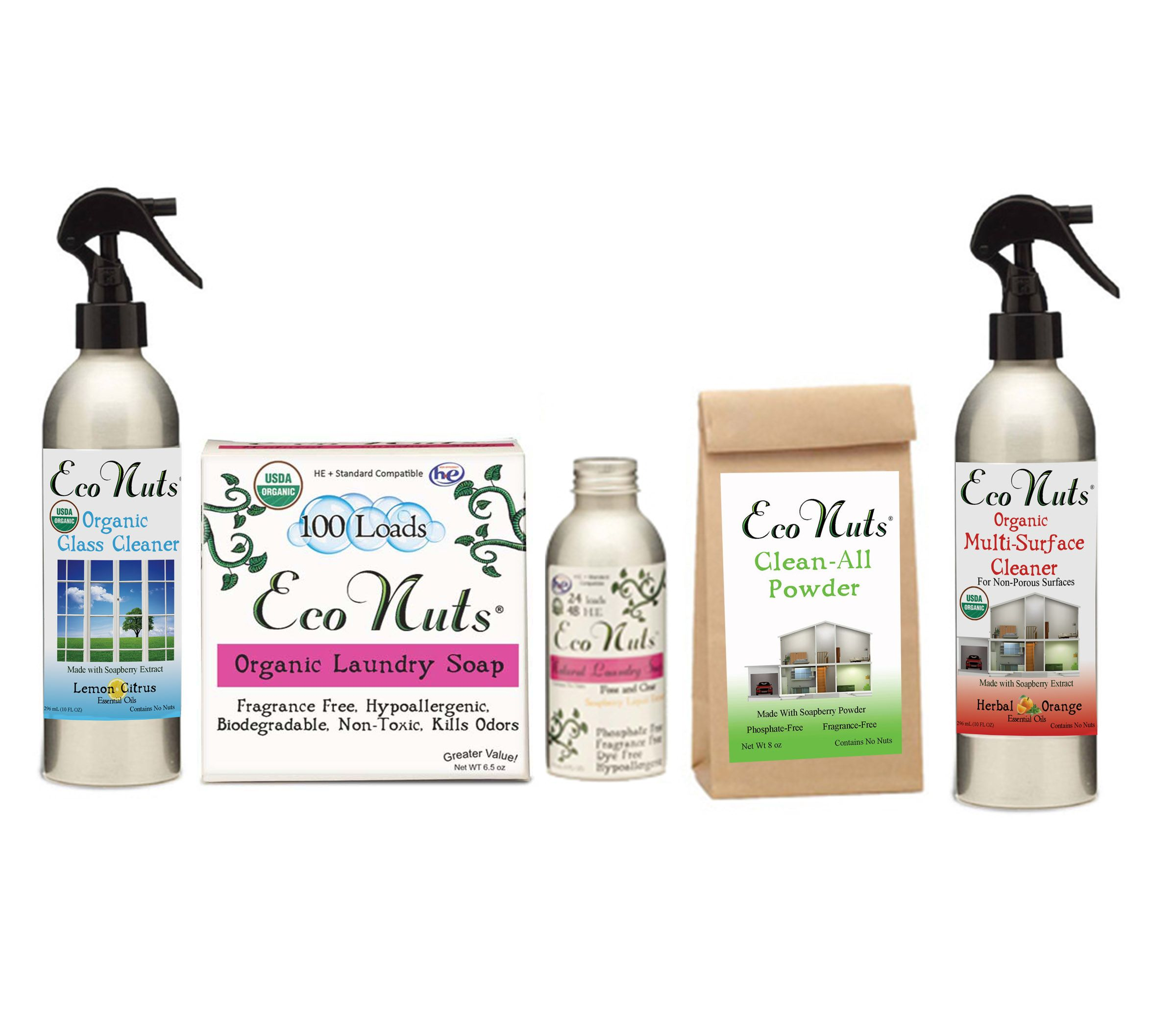 Deluxe Natural Cleaning Set Organic Cleaning Products Natural