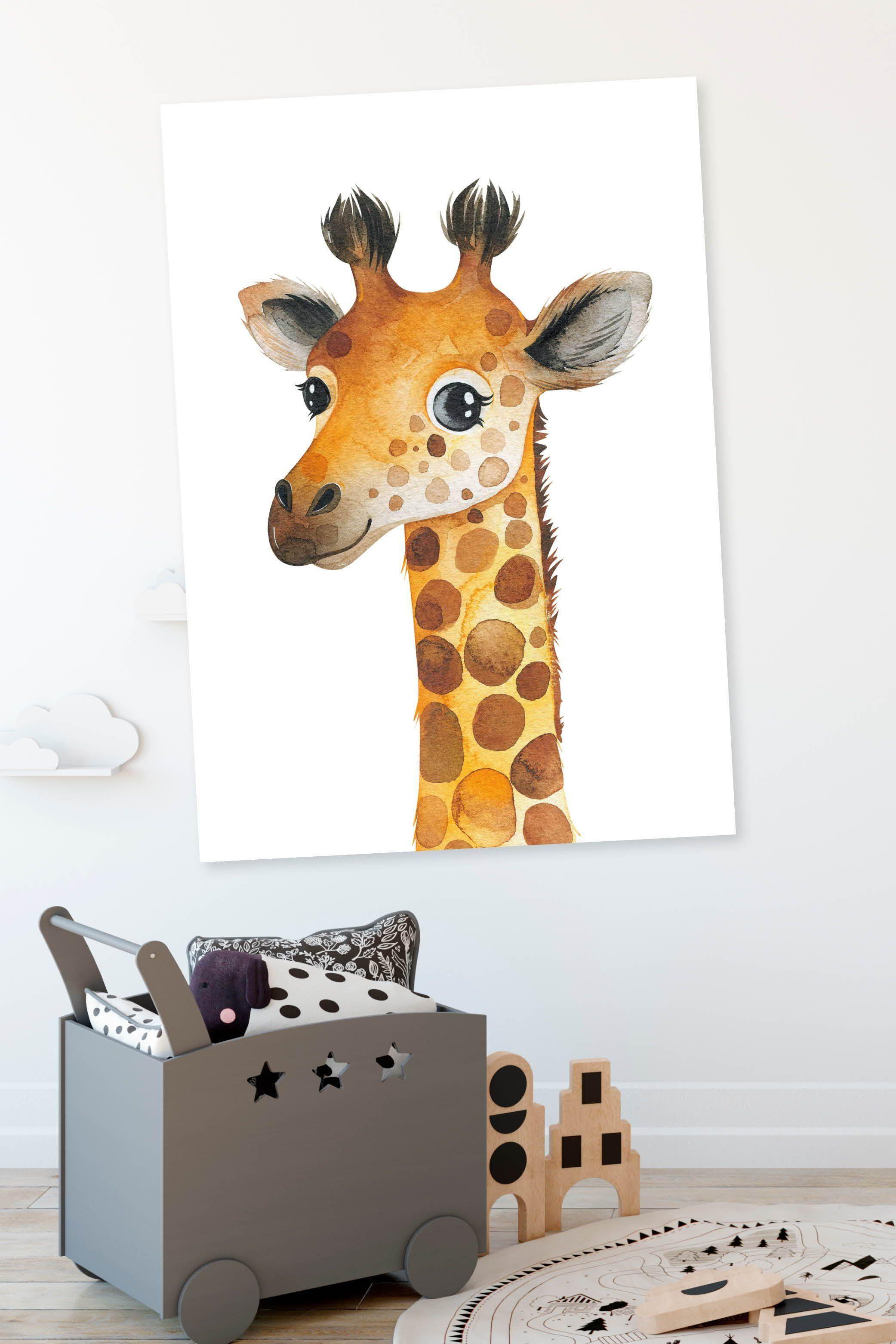 giraffen poster für kinder  design für kinderzimmer