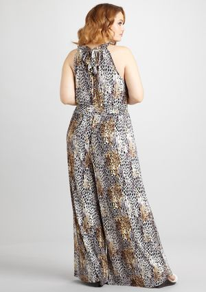 5af9b6aaca7 MLLE GABRIELLE Plus Abstract Print Jumpsuit