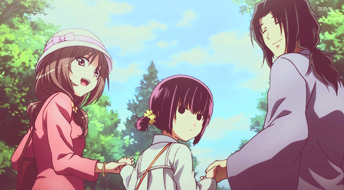 Sakura Sakurakouji and her parents | Code: Breaker | Code