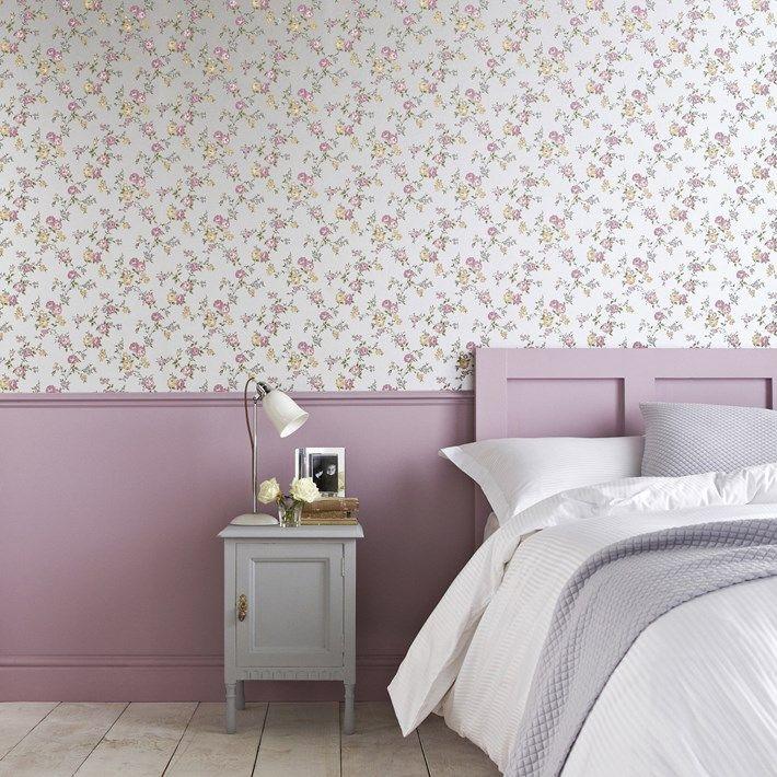 Rose cottage graham and brown chambre en parme avec - Zocalos para paredes ...
