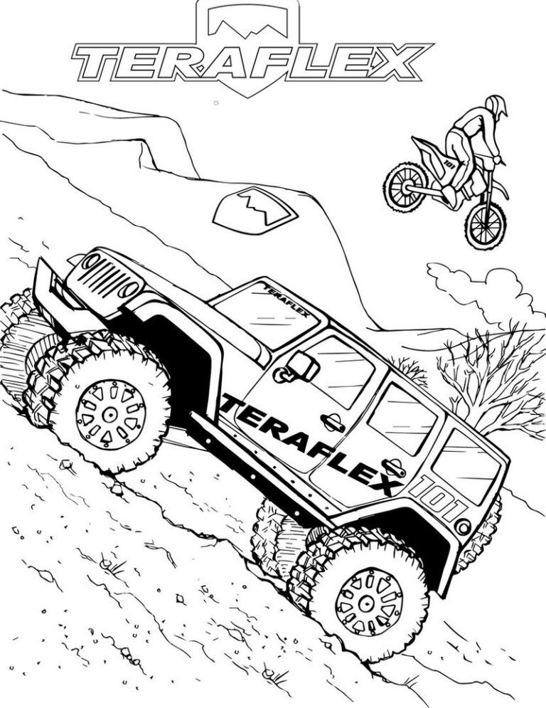 Jeep Off Road Bumpers Coloring Page In 2020 Coloring Pages Monster Coloring Pages Jeep Drawing
