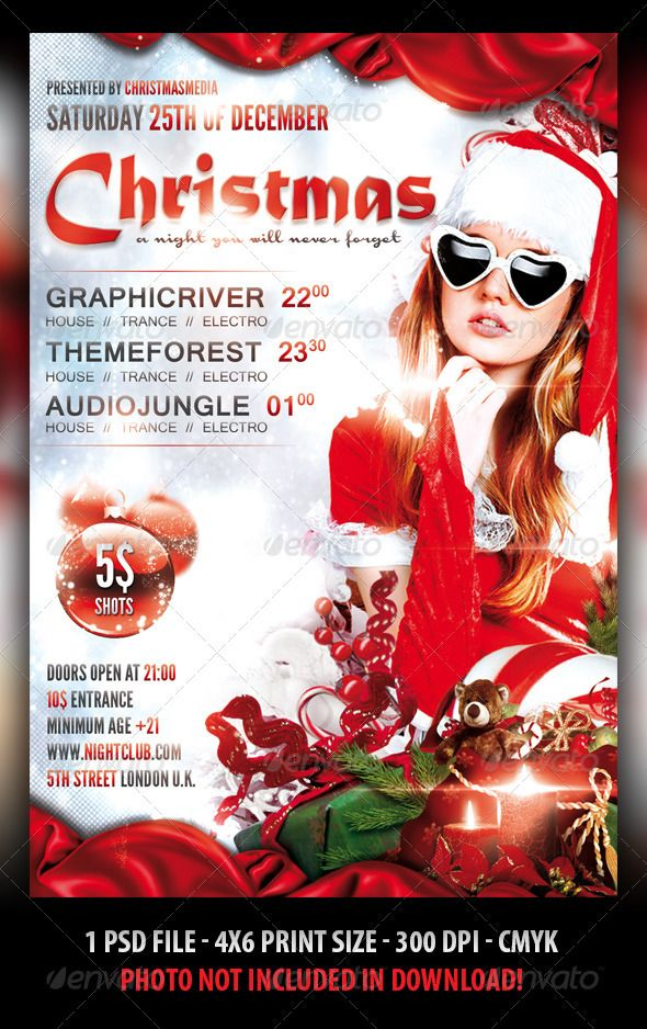 Christmas Party Flyer Template.Christmas Party Flyer Template Flyer Poster Design