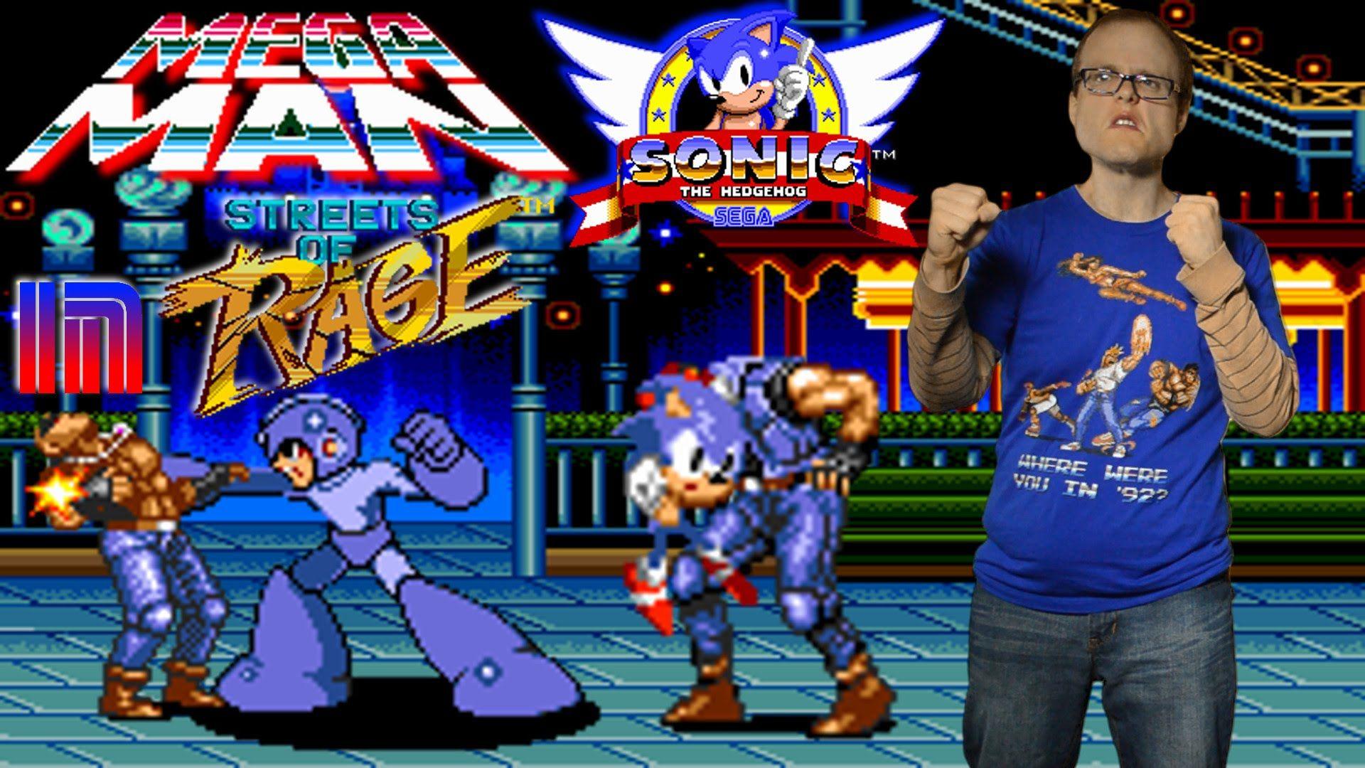 Mega Man & Sonic The Hedgehog in Streets of Rage ROM Hacks
