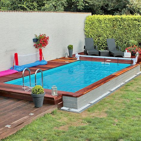 Styroporpool, Thermopool Schwimmbecken 7,00 x 3,50 x 1,50m