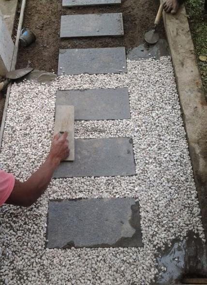 17+ trendy patio floor pavers river rocks #sideyards