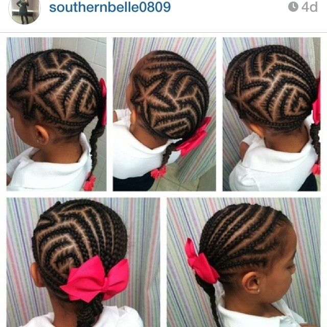 Simple yet complex star design on natural hair. #cornrows ...