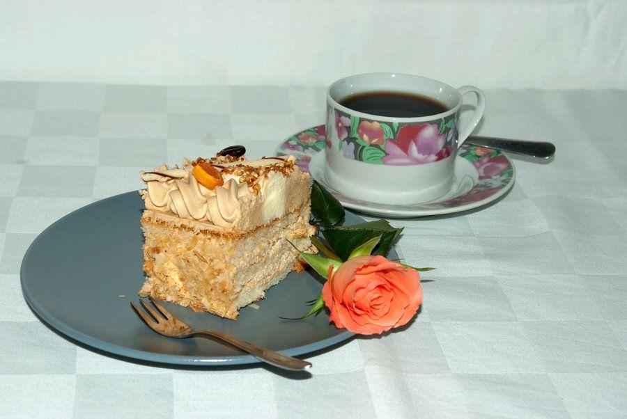 Birthday cake and coffee :D by steppelandstock.deviantart.com