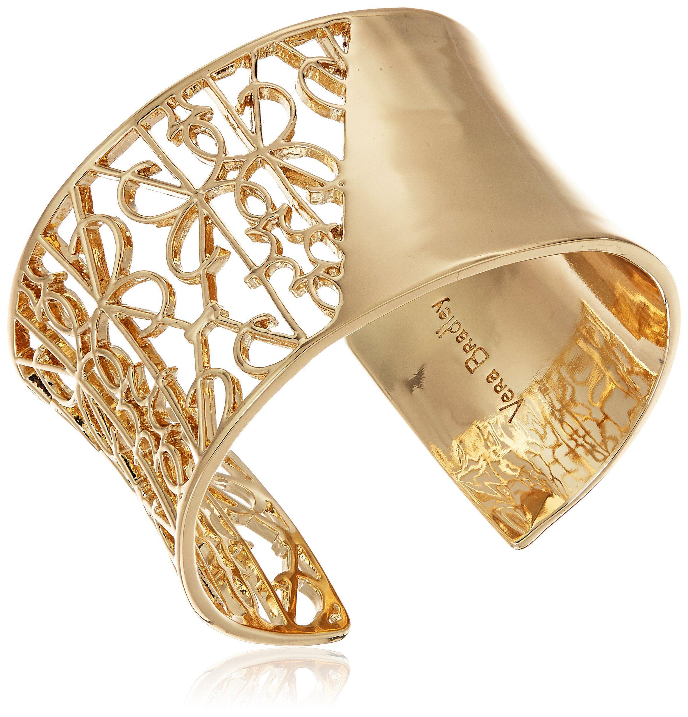Vera Bradley Signature Wide Cuff in Gold Tone