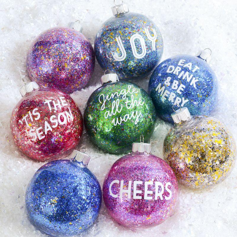 Glitter Sentiment Ornaments Ornament Diy Christmas Make Your Own Trendy