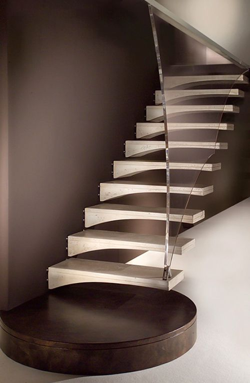 Modern Wood Stairs Design by Marretti Stairs Pinterest Wood