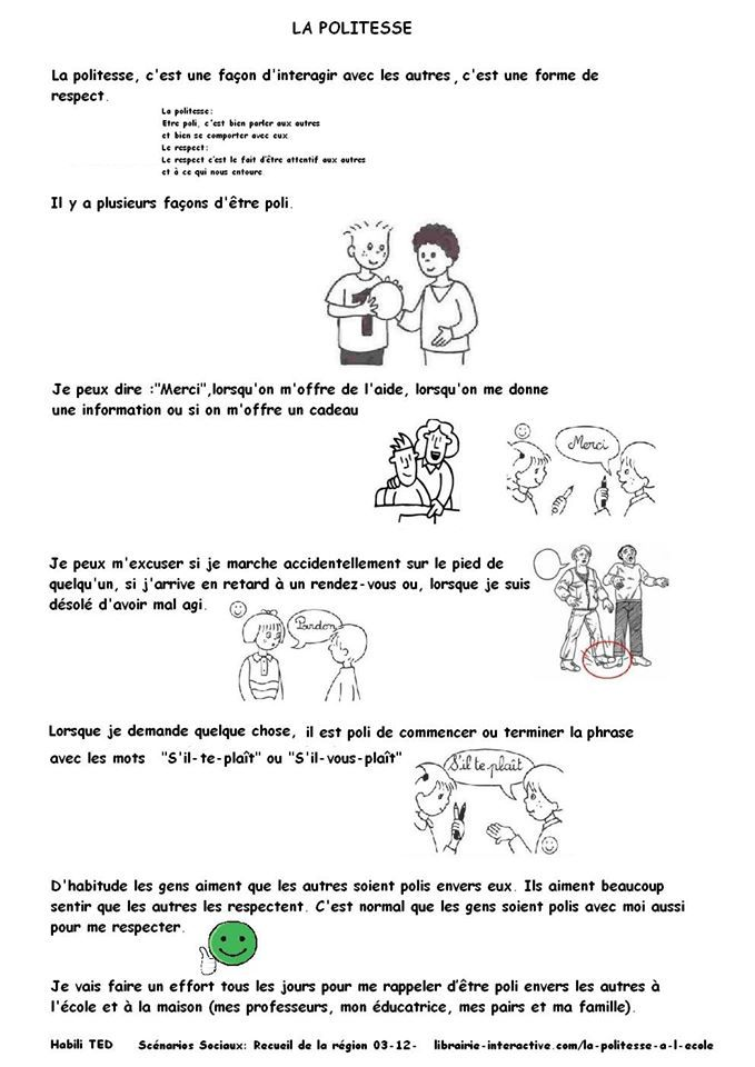 Est Ce Que C'est Normal : c'est, normal, Politesse, Scénario, Social, Stories,, Teacch,, French, Immersion, Kindergarten