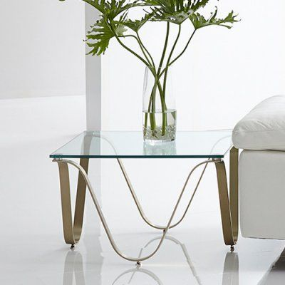 Bellini Modern Living Murano Square End Table Murano Cpg Et Blni190 2 End Tables Glass End Tables End Table Sets