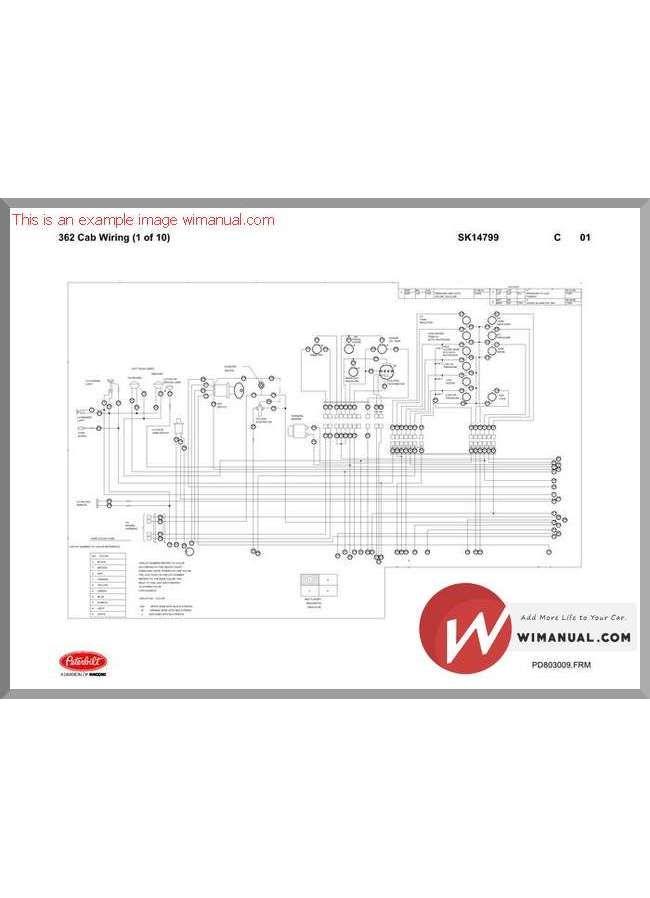 Peterbilt Pb362 Cab Wiring Schematic  Sk14799