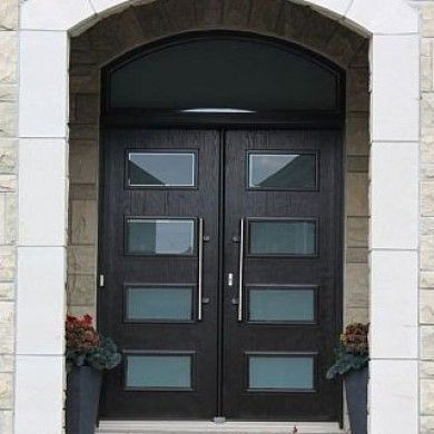 Modern Wood Doors With Transom Built By Exterior Doors Toronto Also