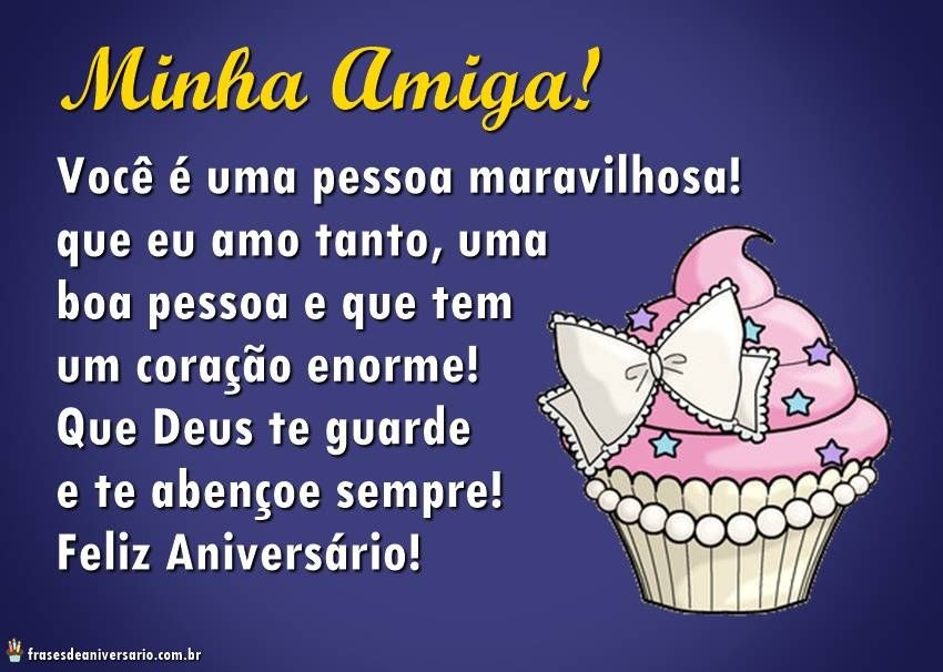Mensagem Para Irmã De Aniversário Whatsapp Facebook E38: Parabens-amiga-maravilhosa